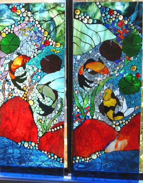 KOI POND (mosaic Art Glass)