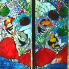 KOI POND (mosaic Art Glass)
