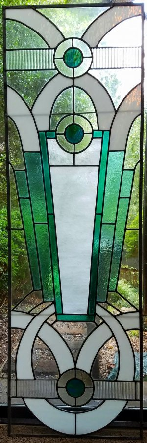 Deco-Door-cropped & ART DECO Door and Cabinets | McLean Stained Glass Studios