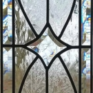 Bevel Leaded Glass Cabinet Panel
