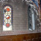 The two Chapel windows in need of restoration.