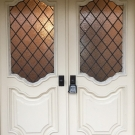 Diamond leaded panels Entry ext. crop 1