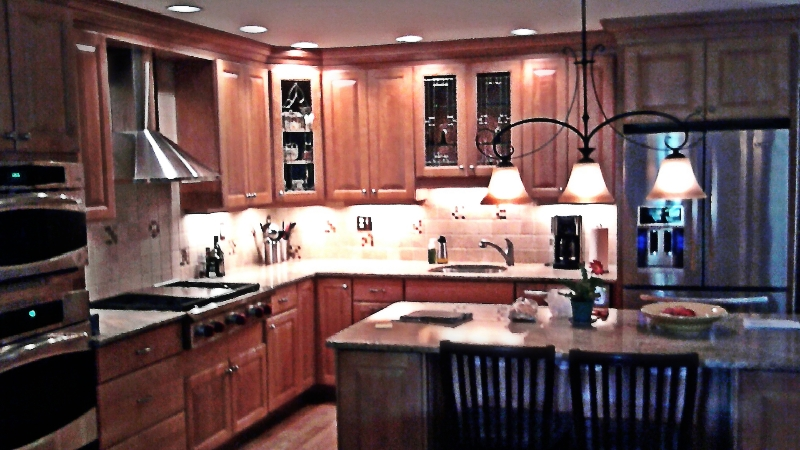 Beveled glass kitchen cabinet panels mclean stained for Beveled glass kitchen cabinets