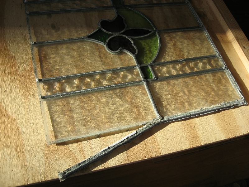 Dismantling Broken Antique Window Panel