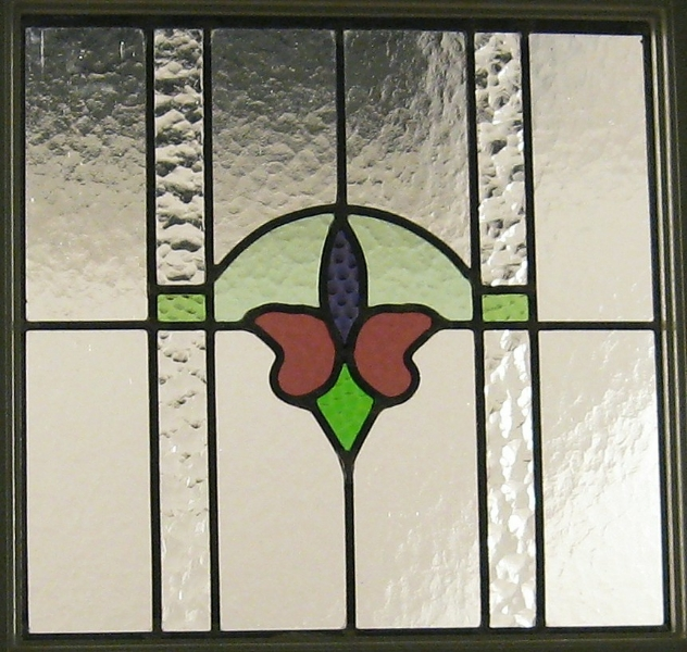 Restored Antique Window Panel Installed