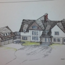 Rob Morris\' original rendering of the Sparta house.