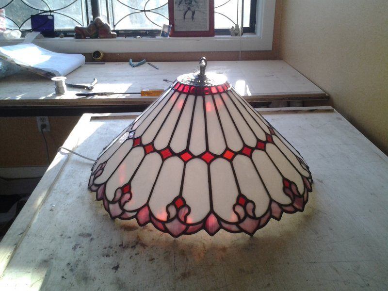 Lamp REPAIRED in studio 1