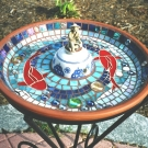 CHINESE FISHERMAN Birdbath