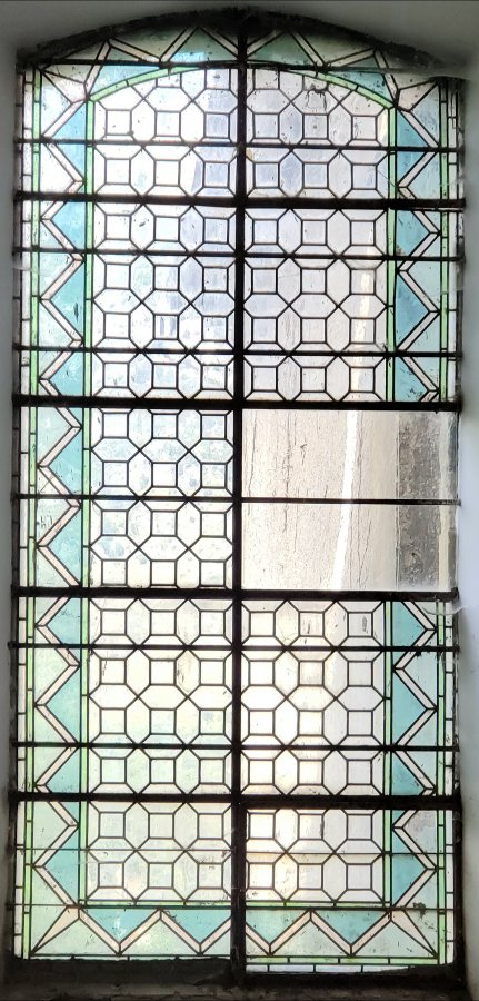 280 year old stained glass window.