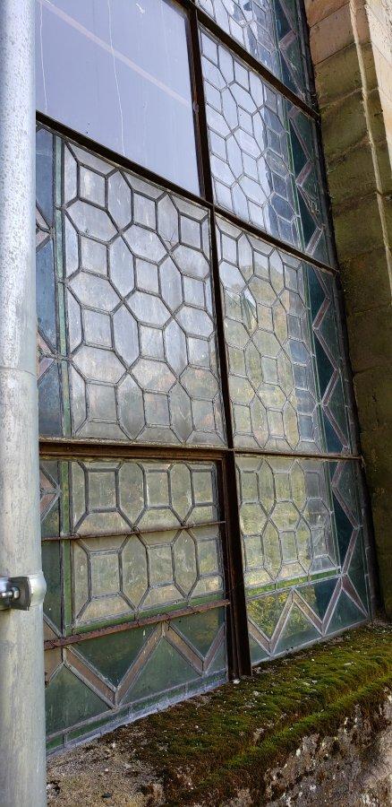 Exterior of windows.