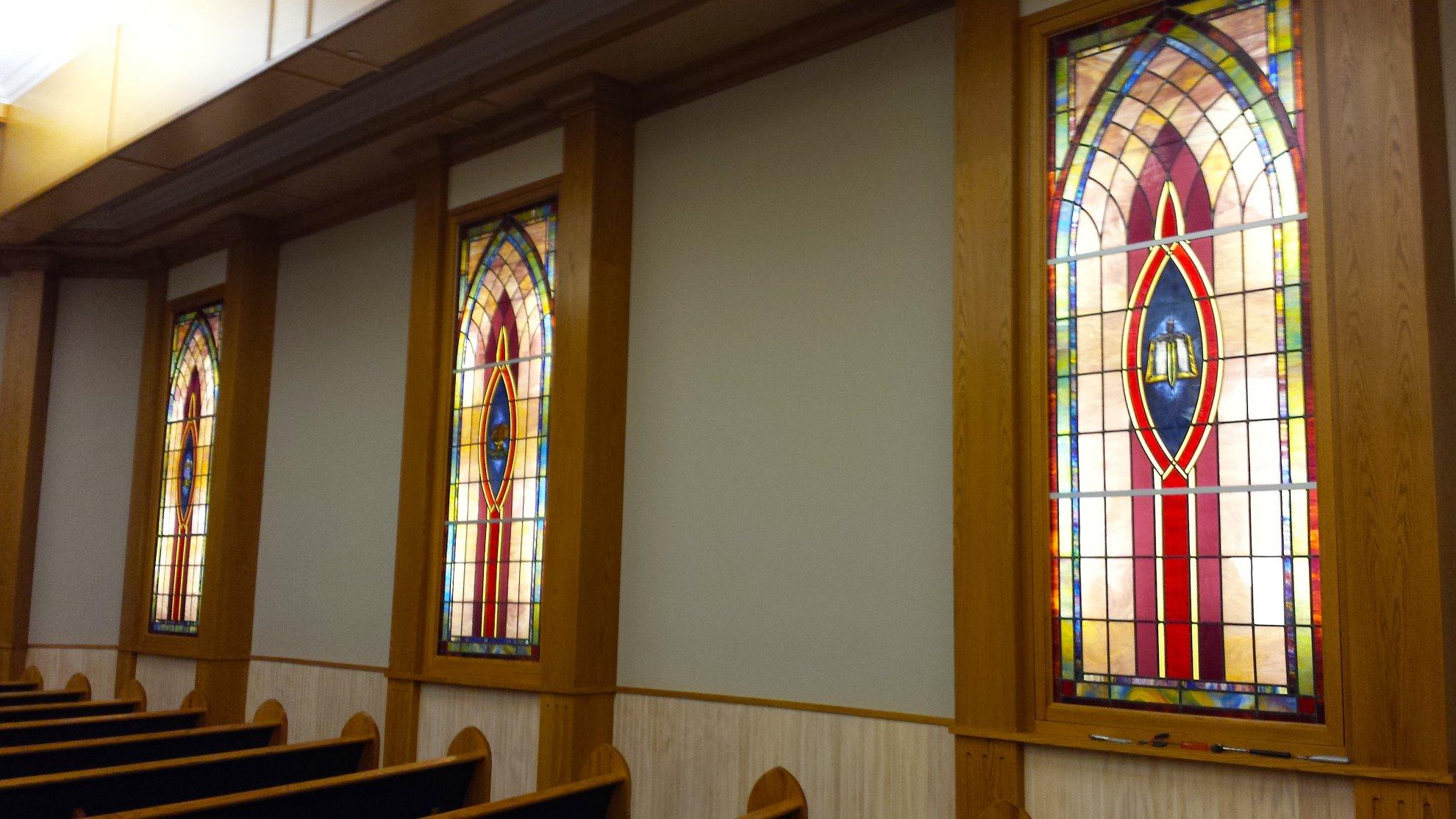 Side of chapel 3 windows