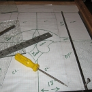 Making Template to restore Antique Window Panel