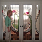 Designer Pamela Joyce Bogdonoff with Rose Women Panels