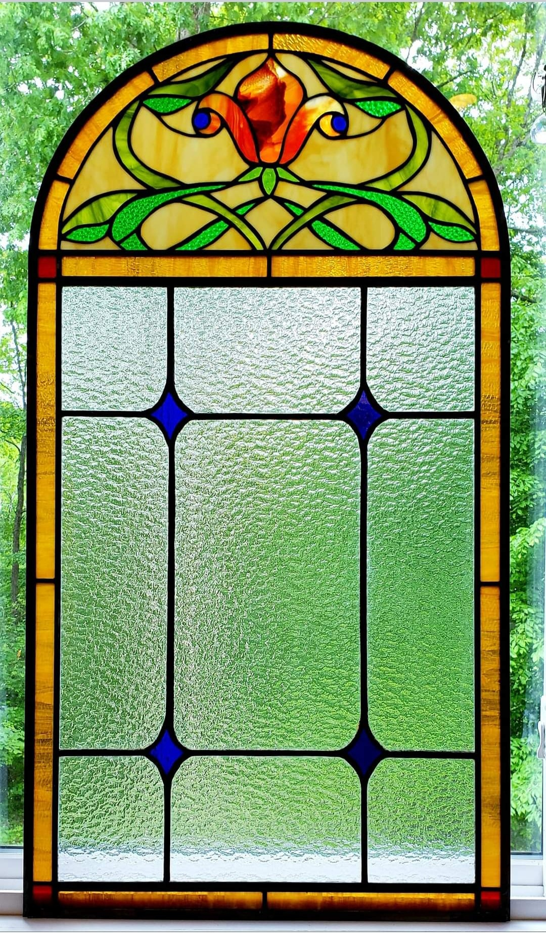 Victorian Floral Stained Glass