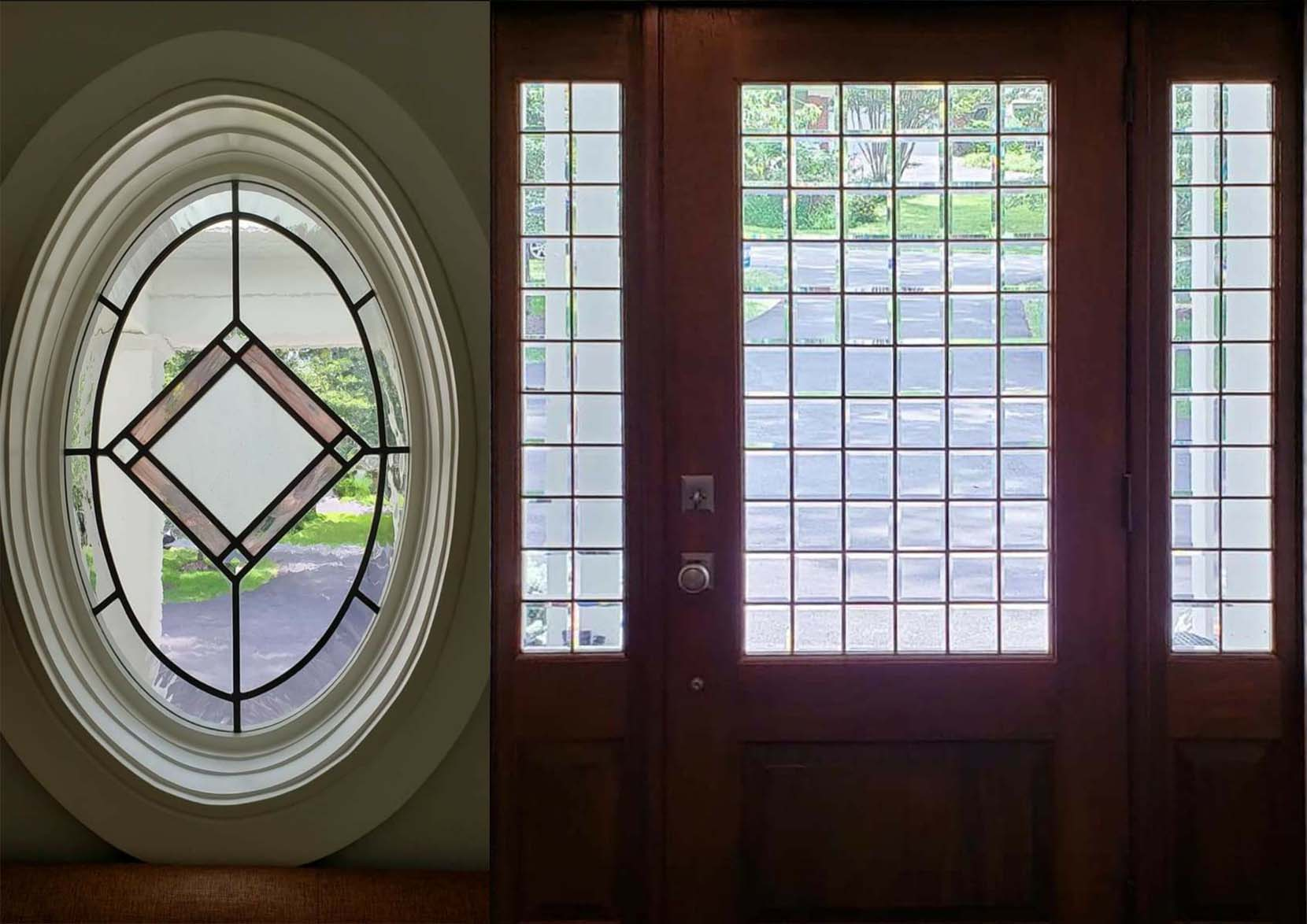 Beveled Entryway with Oval Side Windows